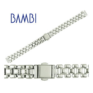 d854bc01b8 時計 ベルト 時計ベルト 腕時計ベルト 時計バンド 時計 バンド 腕時計バンド バンビ メタル 金属 レディース シルバー BBY5039R 10mm  11mm 12mm 13mm.