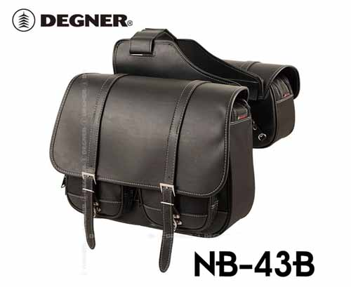 ☆NB-43B 右出しマフラー対応ナイロンダブルサドルバッグ アメリカン サイドバッグ デグ...