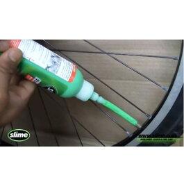 [あさひ]スライムパンク防止剤の注入自転車一台分(前後タイヤ)[※単体での受注不可]