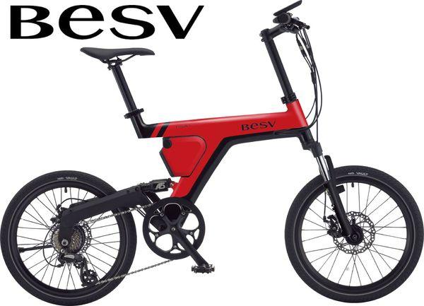 送料無料店頭受取限定ベスビーミニベロ電動自転車アシスト自転車コンパクトPSA1BESV7段変速