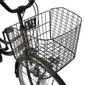 鍵付ギア付26インチおしゃれフレームdixhuit6段変速ギアブラウン激安軽快車(ママチャリ)自転車デザインフレームで人気サントラストママチャリ無料自転車送料