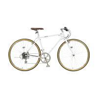 クロスバイクスポーツ自転車700cおしゃれ可愛いシンプル軽量ギア付きシマノ製7段変速クロモリフレーム片足スタンドサビに強いチェーンcymaオリジナルモデル通勤用通学用送料無料100%組立【cavite(キャビテ)】