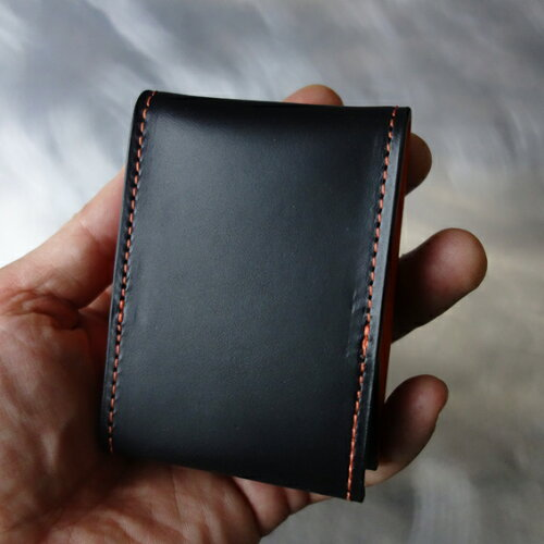 cyproductカード&コインパースnaked黒/オレンジ(小銭入れコインケース)
