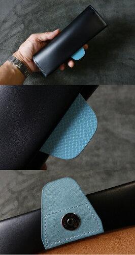 cyproductメガネケースM3黒/ジーンブルー