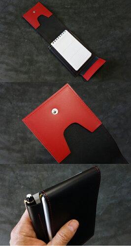 cyproductマルチメモポケット黒/レッド