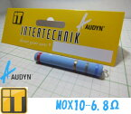 インターテクニック INTERTECHNIK AUDYN CAP オーディンキャップ MOX10-6.80Ω 10W 金属皮膜抵抗 サイズ:8x51mm 線径:0.80mm 電力容量:10W