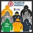 【franklin & marshall】フランクリンマーシャル ジップパーカー カジュアル ロゴ プリント 王道 カレッジ風 8type おしゃれ かっこいい flmva04