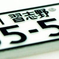 DM便送料無料本物そっくり文字入れ可能ナンバープレートキーホルダー中型・大型二輪用