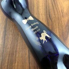 名入れ彫刻デザインとカラーが選べる名入れ猫ボトルグスタフアドルフシュミットGASラインヘッセンRIブルーキャット500ml
