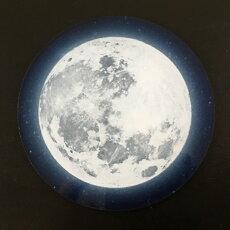【オリジナル印刷】【DM便送料無料】テーブルによって色味の変化が楽しめるフルムーン(満月)コースター【星空・夜空・銀河・star】【プレゼント・贈答品・ギフト】