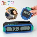 目覚まし時計 親機 子機 置き時計 デジタル 音楽 光 自分で起きれる 親子型目覚まし時計 OKITE Model:ES-01 オキテ ADESSO アデッソ OKITE!