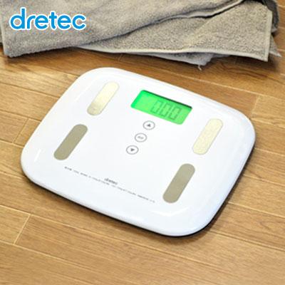 【送料無料】dretec(ドリテック) 体組成計 体重計 体脂肪 体脂肪計 体組成 デジタル 筋肉量 骨量 50g単位 おすすめ 体水分率 基礎代謝 内臓脂肪レベル