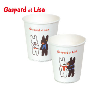 リサとガスパール 紙コップ / 1カートン(1000個) 5オンス
