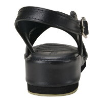【送料無料】ナースサンダル黒クロスサンダルL(23.5-24.0cm)