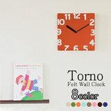 【時計 掛け時計】 トルノ フェルト クロック / Torno Felt Clock 売れ筋 【送料無料 あす楽対応】