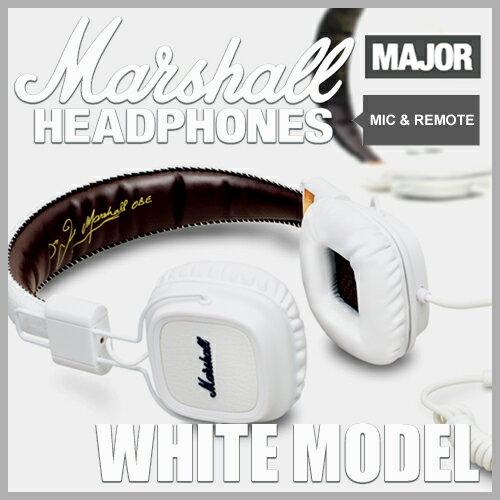 Marshall Headphone MAJOR MIC WHITE / マーシャル ヘッドフォン メジ...