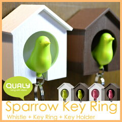 QUALY Sparrow Key Ring クオリー スパローキーリング 小鳥をモチーフにした防犯アイテムにもな...