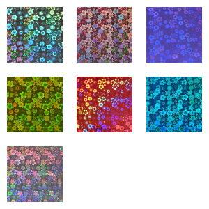 ホログラムシートさくら選べる7色(シールタイプ)