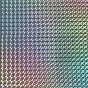 ホログラムシート 1/4プリズム シルバー(粘着タイプ)【ホログラムシール】