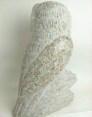 みかげ石止まり木フクロウ(大サイズ)《石ふくろう》《石フクロウ》