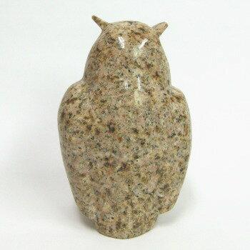 錆みかげ石フクロウ