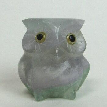 紫水晶(アメジスト)フクロウメノウ台座付《石のふくろう》