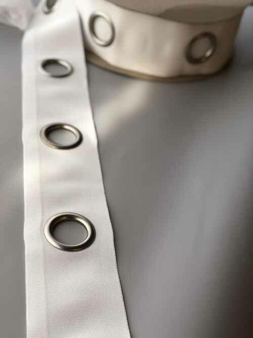 ハトメテープ 105mm 40φ ホワイト【1mあたりのお値段です】