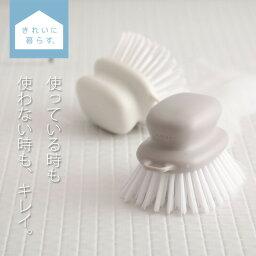マーナ お風呂のブラシ W601 ホワイト 白 グレー 風呂掃除 たわし 掃除ブラシ 【きれいに暮らす。】 掃除グッズ お風呂