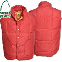 SIERRADESIGNS(������ǥ�����)KIDSDOWNSIERRAVEST���å������󥷥���٥���Red/Orange7052H