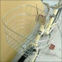 【取り付けて発送】自転車用ステンレスフロントバスケット【角丸型】【c-op】