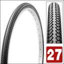 自転車一般車用タイヤ&チューブ クロ 27インチ*1 3/8 W/O