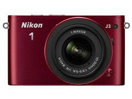 【代引手数料無料】【送料無料】Nikon / ニコン Nikon 1 J3 標準ズームレンズキット [レッド]