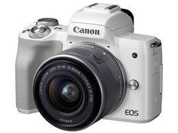 ◎◆ CANON EOS Kiss M EF-M15-45 IS STM レンズキット [ホワイト] 【デジタル一眼カメラ】