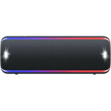 ソニー SONY ワイヤレスポータブルスピーカー SRS-XB32 : 防水 / 防塵 / 防錆 / Bluetooth / 重低音モデル ライティング機能搭載 2019年モデル ブラック