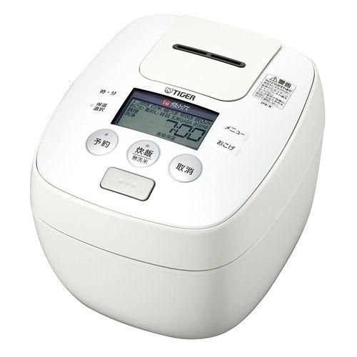 【10日24時間限定\店内全品エントリーで最大P34倍/】タイガー(Tiger) 炊飯器 5.5合 圧力 IH ホワイト 炊きたて 炊飯 ジャー JPB-R100-W