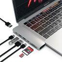【最大1200円OFFクーポン配布中】Satechi Type-C アルミニウム Proハブ Macbook Pro 13/15インチ対応 40Gbs Thunderbolt 3 4K HDMI Micro/SDカード USB 3.0ポート×2 マルチ USB ハブ (シルバー)
