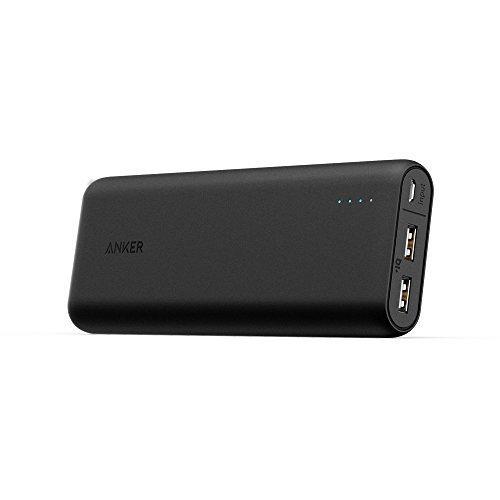 Anker PowerCore 20100 (20100mAh 2ポート 超大容量 モバイルバッテリー パナソニック製セル搭載) iPhone / iPad / Xperia / Galaxy / Android各種他対応 マット仕上げ トラベルポーチ付属