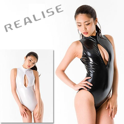 REALISE(リアライズ)【N-206】フロントジッパー競泳水着 コスチューム エナメル加工…