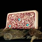 【FDC】ファスナーウォレット透かし彫りカービングウォレット牛革メンズ財布革財布ハンドメイド【RCP】