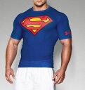 スーパーマンUNDER ARMOURアンダーアーマーTシャツフィットネス・筋肉・筋トレ・ウェイトトレーニングレアなALTER EGOオルターエゴシリーズ