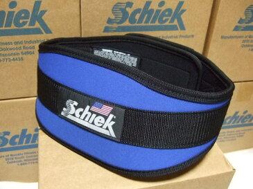 幅広タイプ Schiek シークリフティングベルト Model4006 ブルー ウェイトトレーニングに最適! トレーニングベルト・ボディビル・筋トレ・腹圧を高めて腰痛予防に。