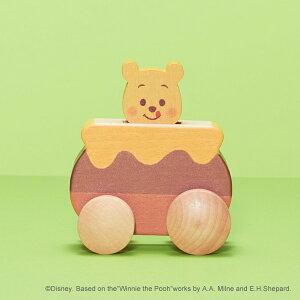 Disney KIDEA ディズニーキディア KIDEA PUSH CAR くまのプーさん ( キデア キディア 車 おもちゃ 積み木 つみき 積木 木のおもちゃ 木製玩具 知育玩具 ギフト 出産祝い 誕生日 プレゼント おしゃれ インテリア ディズニー ベビー キッズ 赤ちゃん 1歳 1歳半 2歳 3歳 )
