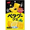 【ノーベル製菓】130円 ペタグーグミ〈レモン味〉50g(6袋入)
