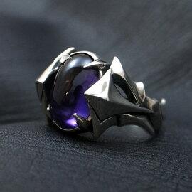 送料無料アメジストリングメンズシルバー指輪WISH-colorofwish-D.four・ディーフォーDF-035AM【_包装】492625