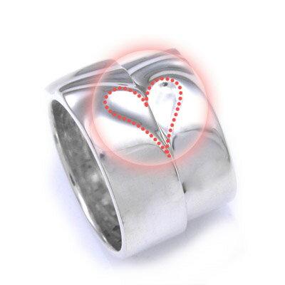 ペアリング リング 刻印 ペア 名入れ シルバー ハート 指輪 幅広 シンプル ペアアクセサリー シル...