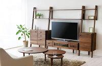 【開梱設置・送料無料】LEIRIAレイリア幅92テレビボード壁面収納TVボード棚引出しウォールナット木製北欧おしゃれ日本製