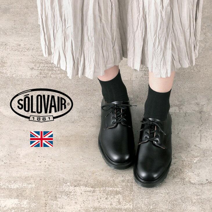 レディース靴, その他 10125()23:59SOLOVAIR 4 4-996-BK-09-0F (4-996-HS) 4EYE SHOE GIBSON HI-SHINE