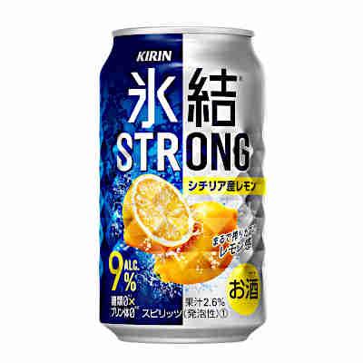 【送料無料1ケース】氷結ストロング シチリア産レモン キリン 350ml缶 24本入り