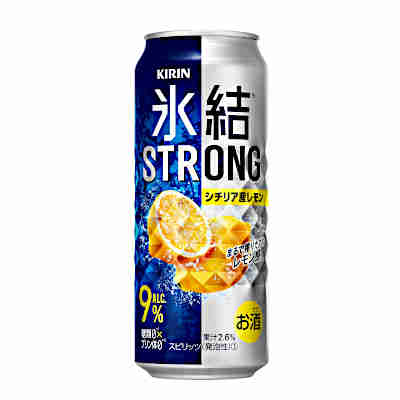 【送料無料1ケース】氷結ストロング シチリア産レモン キリン 500ml缶 24本入り