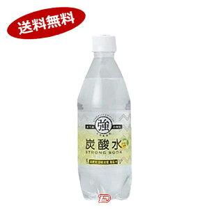 【送料無料2ケース】強炭酸水レモン 友桝飲料 500mlペット 24本×2★一部、北海道、沖縄のみ別途送料が必要となる場合があります